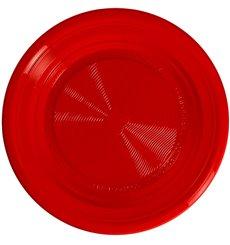 Plate PLA Flat Red Ø17 cm (25 Units)