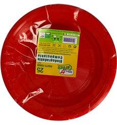 Plate PLA Deep Red Ø22 cm (375 Units)