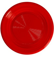 Plate PLA Flat Red Ø22 cm (25 Units)