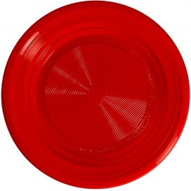Plate PLA Flat Red Ø22 cm (375 Units)