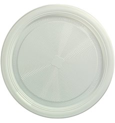 Plastic Plate PLA Flat White Ø17 cm (425 Units)