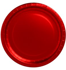 "Paper Plate Round Shape ""Party"" Red 33cm (3 Units)"