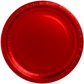 "Paper Plate Round Shape ""Party"" Red Ø34cm (45 Units)"