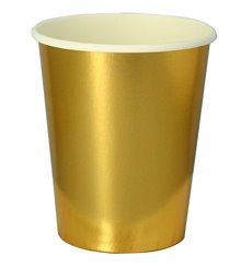 "Paper Cup Gold 9Oz/240ml ""Party"" (10 Units)"