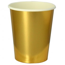 "Paper Cup Gold 9Oz/240ml ""Party"" (300 Units)"