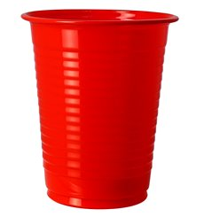 Cornstarch Cup PLA Red 200ml Ø7cm (50 Units)