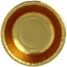 "Paper Bowl ""Party"" Gold Ø16cm (6 Units)"
