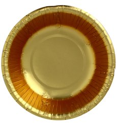 "Paper Bowl ""Party"" Gold Ø16cm (90 Units)"