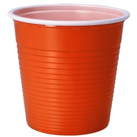 Plastic Shot PS Bicolour Orange 230 ml (30 Units)