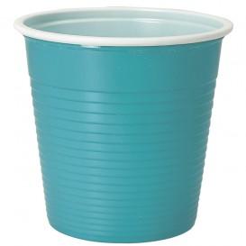Plastic Shot PS Bicolour Light Blue 230 ml (30 Units)