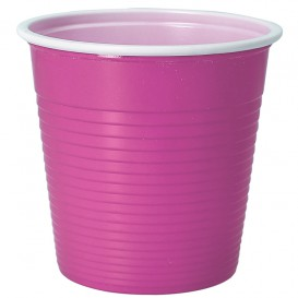 Plastic Shot PS Bicolour Pink 230 ml (30 Units)