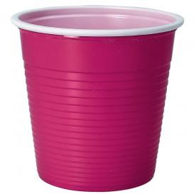 Plastic Shot PS Bicolour Fuchsia 230 ml (30 Units)