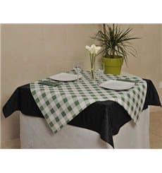Pre-Cut Paper Tablecloth Green Checkers 40g 1,2x1,2m (300 Units)