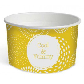 "Paper Ice Cream Container ""Cool&Yummy"" 5oz/140ml (50 Units)"