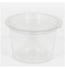 Plastic Container APET Round shape Transparente 80ml Ø7cm (50 Units)