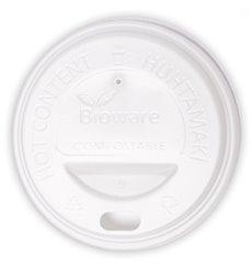 Lid for Paper Cup Hole White 6Oz/8Oz Ø7,0cm (100 Units)