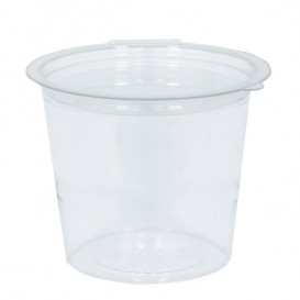 Plastic Container APET Round shape Transparente 125ml Ø7cm (81 Units)