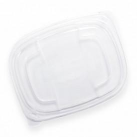 Plastic Lid Translucent Container PP 800/1000ml 21,5x17x2cm (20 Units)