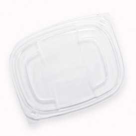 Plastic Lid Translucent Container PP 250/350 and 450ml 14,2x11,1x2cm (640 Units)