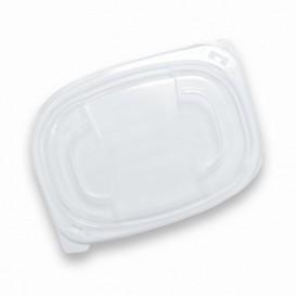 Plastic Lid Translucent Container PP 400/600ml 19x14x2cm (480 Units)