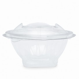 Plastic Salad Bowl APET Round shape Transparente 150ml Ø12cm (21 Units)