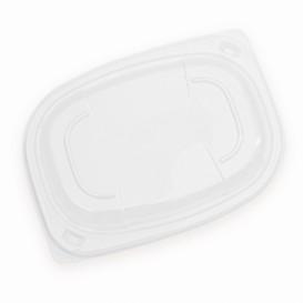 Plastic Lid Transparente Container OPS 400/600ml 19x14x2cm (20 Units)