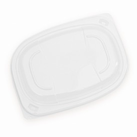 Plastic Lid Transparente Container OPS 400/600ml 19x14x2cm (480 Units)