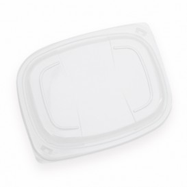 Plastic Lid Transparente Container OPS 800/1000ml 21,5x17x2cm (20 Units)