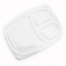 Plastic Lid Transparente Container 3C OPS 1050/1250ml 25,5x18,9x2cm (320 Units)