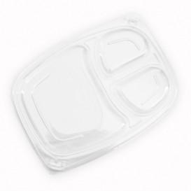 Plastic Lid Transparente Container 3C OPS 1050/1250ml 25,5x18,9x2cm (320 Units)