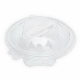 Plastic Salad Bowl APET Round shape with Spoon 500ml Ø15,6cm (360 Units)