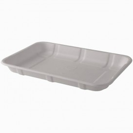 Sugarcane Tray White 21,6x15,3cm (50 Units)