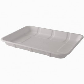 "Sugarcane Tray ""Bionchic"" White 39x29cm (50 Units)"