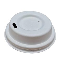 Lid for Paper Cup Hole White 12, 16 and 22 Oz Ø9,0cm (100 Units)