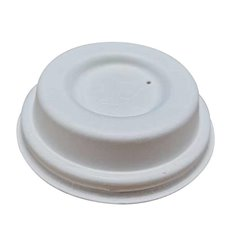 Lid with Hole of Sugar Cane White Ø6,3cm (50 Units)
