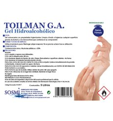 Antibacterial Hydroalcoholic Sanitary Gel 5000ml (1 Unit)