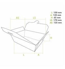 American Box Medium Kraft 15x12x6,5cm (50 Units)
