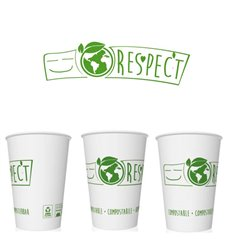"Paper Cup ""Bio"" White 7Oz/220ml (1000 Uds)"