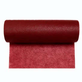 Non-Woven PLUS Tablecloth Roll Burgundy 1x50m (1 Unit)