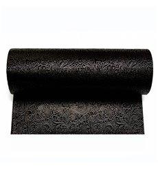 Non-Woven PLUS Tablecloth Roll Black 0,4x50m P30cm (1 Unit)