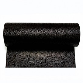 Non-Woven PLUS Tablecloth Roll Black 0,4x50m P30cm (1 Unit)