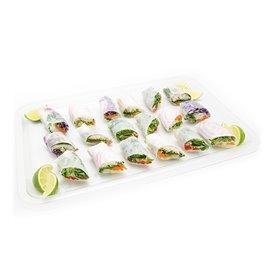 Plastic Tray RPET Transparent 46x30cm (50 Units)