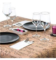 """Pre-Cut Paper Tablecloth 1,2x1,2m """"Buen Provecho"""" Kraft 1,2x1,2m (300 Units)"""