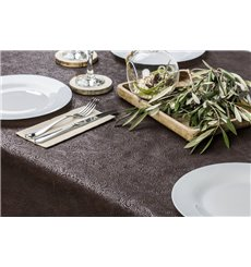 Non-Woven PLUS Tablecloth Brown 120x120cm (100 Units)