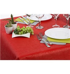 Non-Woven PLUS Tablecloth Red 100x100cm (100 Units)