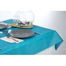 Non-Woven PLUS Tablecloth Turquoise 120x120cm (100 Units)