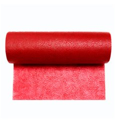 Non-Woven PLUS Tablecloth Roll Red 0,40x45m P30cm (1 Unit)