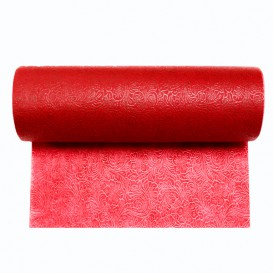 Non-Woven PLUS Tablecloth Roll Red 1,2x45m P40cm (1 Unit)