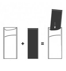 Paper Cutlery Envelopes Crèmeh Napkin Cream (1000 Units)