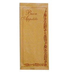 """Paper Cutlery Envelopes with Napkin """"Buon Appetito"""" (1000 Units)"""